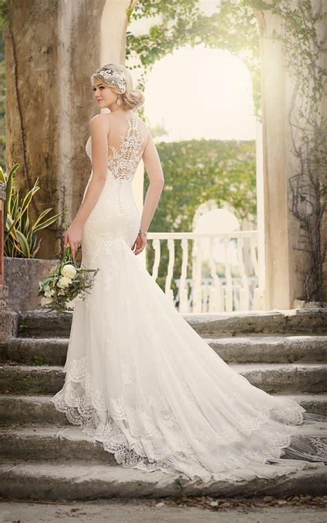 wedding dresses vintage fit  flare wedding dress