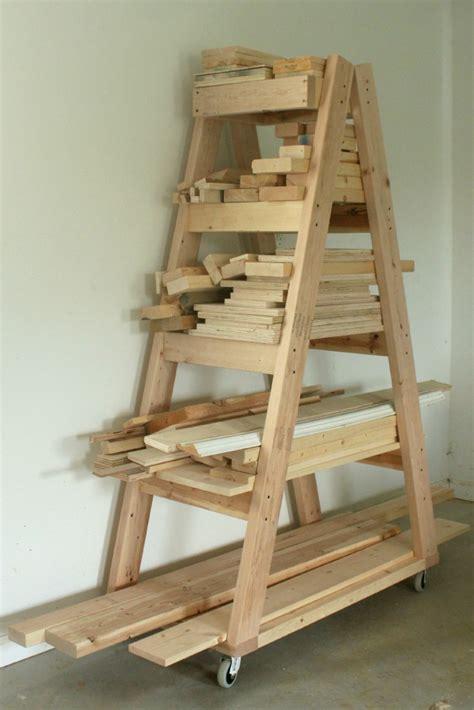 lumber rack ideas easy portable lumber rack free diy plans rogue engineer