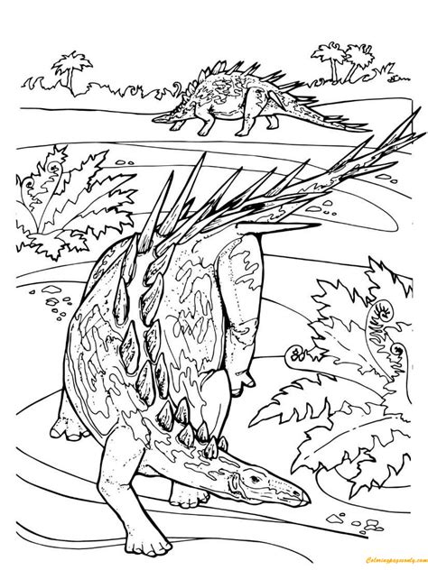 Dinosaurus Kleurplaat Jurrasic World by Kentrosaurus Stegosaurid Jurassic Dinosaur Coloring Page