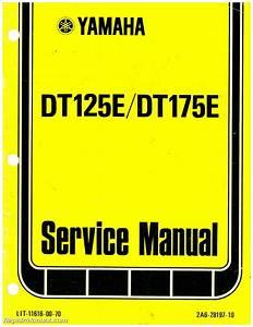 1978 Yamaha Dt125e Dt175e Motorcycle Service Repair Manual