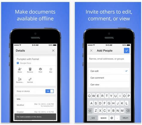 apps to make fan edits google docs and google sheets get official ios apps