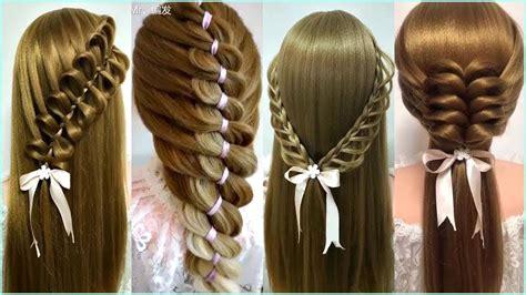peinados faciles  bonitos  cabello largo  tutorial trenzas de moda  nina
