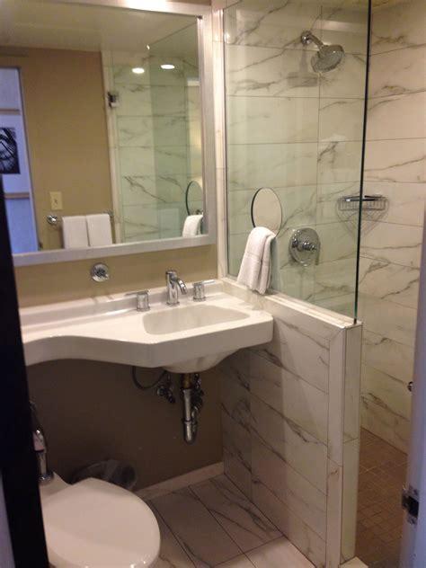 Open Small Bathroom Stand Up Shower  Bedroombathroom