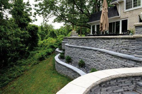 unilock michigan 15 best commercial projects retaining walls images on