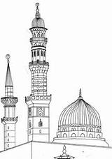Madina Clipart Prophet Coloring Sketch Islamic Mosque Drawing Islam Re Sketches Masjid Drawings Smile Template Islami Paintings Easy Boyama Activities sketch template