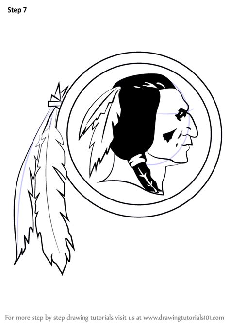 learn   draw washington redskins logo nfl step