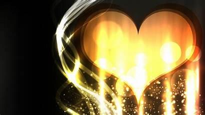 Screensavers Cool Heart Wallpapers Golden Lights Many