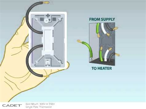 how to install a single pole wall thermostat to your cadet baseboard heater youtube