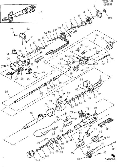 Chevy Steering Column Wiring Diagram Auto Electrical