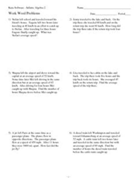 twelve average speed rate word problems 10th 12th grade worksheet lesson planet