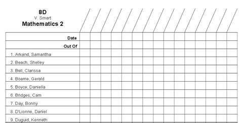 class roster template 6 best images of printable attendance list free printable attendance sheet template cub scout