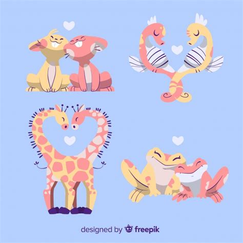 We have a huge range of svgs products available. Free Vector   Animal couple collection