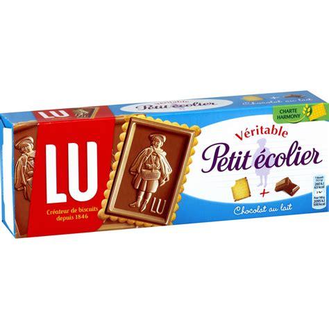 peintures cuisine biscuit chocolat au lait petit ecolier lu la boite de 150 g shoptimise