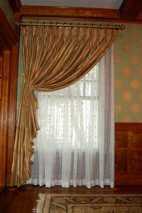 drapes and soft treatments traditional curtains