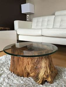25 best ideas about glass coffee tables on pinterest With tree stump coffee table with glass top