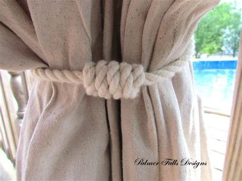 Nautical Curtain Tieback / Cotton Rope Tie Back / Nautical