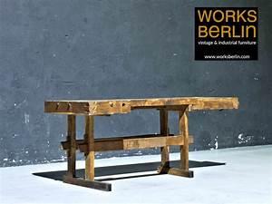 Werkbank Aus Holz : sale alte hobelbank aus holz restaurierte werkbank als tisch oder ablage ~ Watch28wear.com Haus und Dekorationen