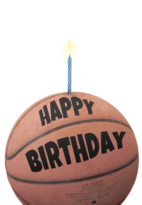 printable birthday card basketball