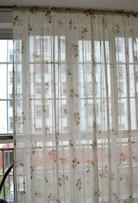 morden rustic small flower curtains for windows