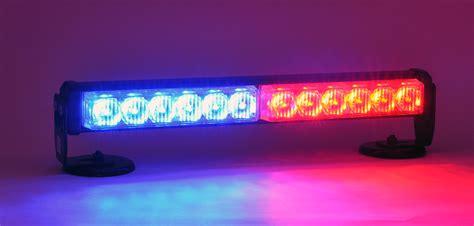led emergency deck dash light red blue police strobe