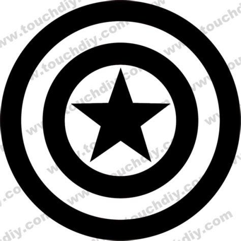 captain america logo engraving services ready design
