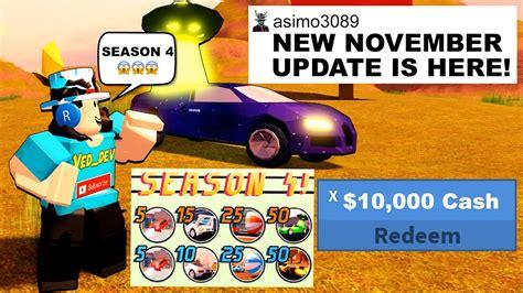 Jailbreak codes can give cash, royale token. SEASON 4 UPDATE in Jailbreak! NEW CODE! (Roblox) - YouTube