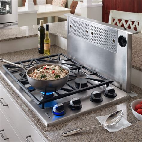 slide in electric range with downdraft dacor erv3015 30 inch epicure downdraft ventilation system