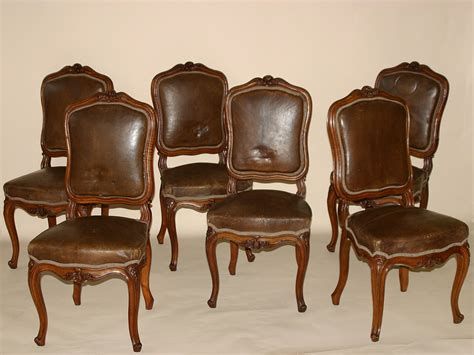 chaises louis xv set of six louis xv style chaises