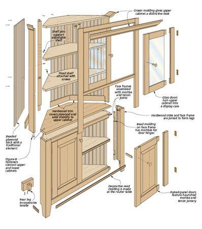 corner kitchen cabinet plans classic corner cabinet 5836