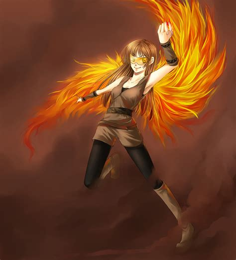 Anime Girl With Phoenix Wings Mungfali