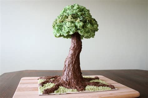 tree cake sculpted tree cake tutorial cakecentral com