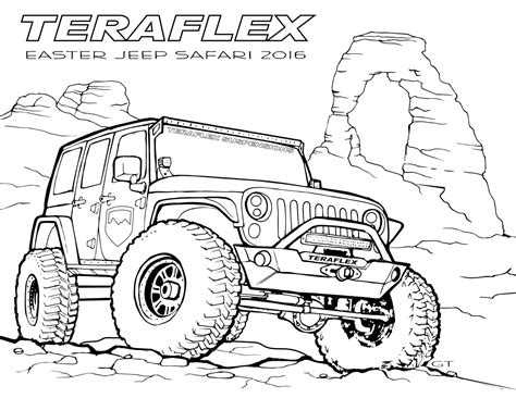 jeep coloring pages kidsuki