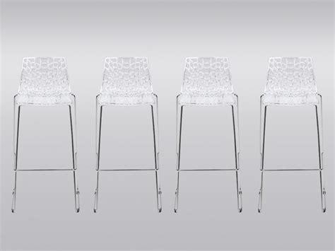 bureau deco design lot de 4 tabourets de bar wilton 4 pieds polycarbonate
