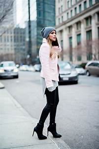 Faux Leather Leggings and Black Booties