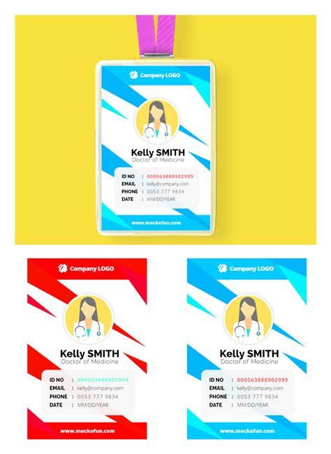 employee id card design mockofun