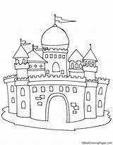 Dome Castle Coloring Pages sketch template