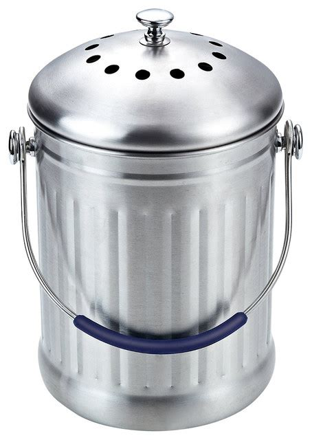 kitchen compost container indoor composter stainless steel compost bin with stainless steel handle indoor compost bin image credit etsy envirocycle