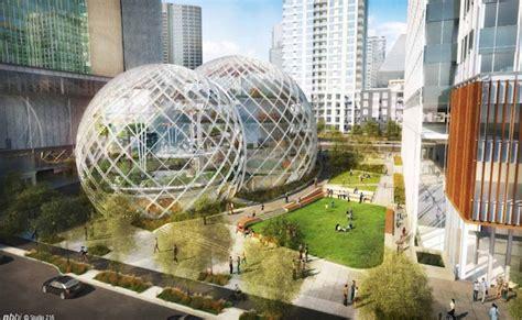 siege social amazon amazon va construire un nouveau siège social futuriste à