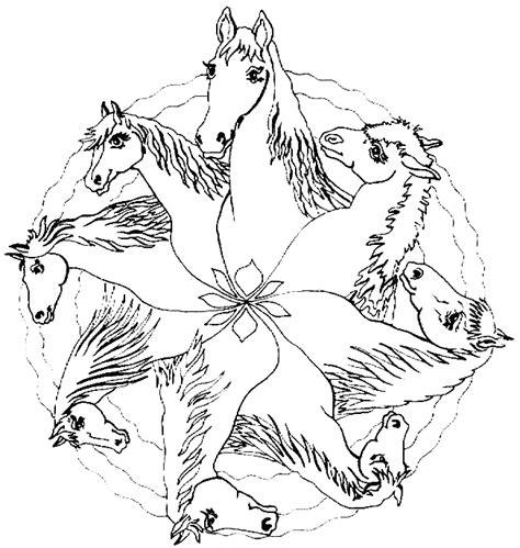 Kleurplaat Mandela Paarden by Kleurplaten En Zo 187 Kleurplaat Mandala Paarden