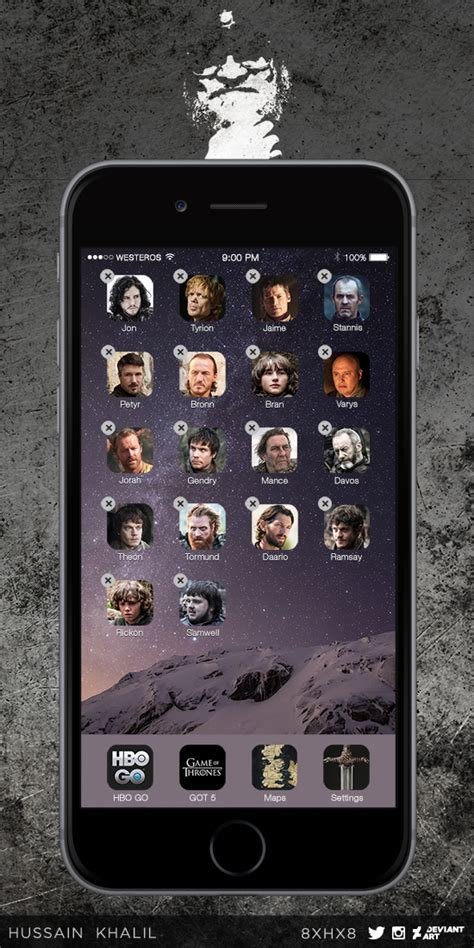 game  thrones characters  iphone  apps  xhx