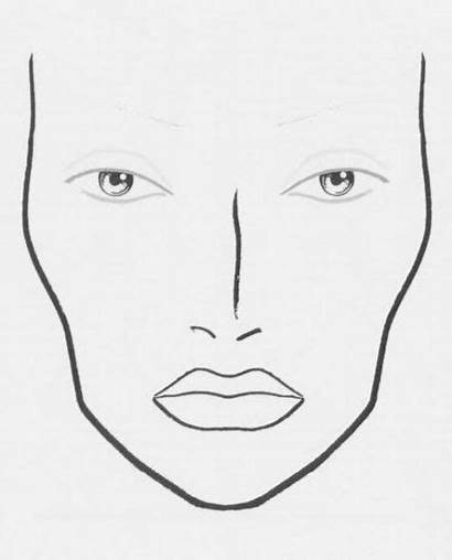 Face Makeup Mac Template Chart Charts Outline