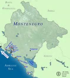 Montenegro World Map Country