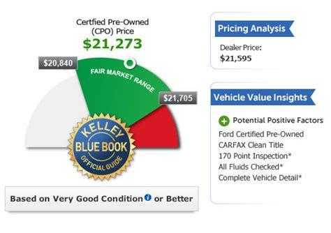 kelley blue book  car price advisor report vauto