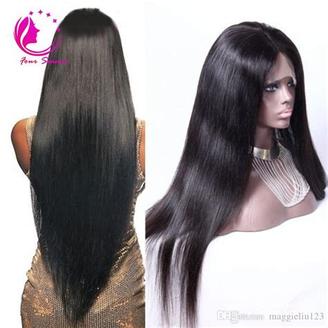 long silky straight lace front wig    human hair