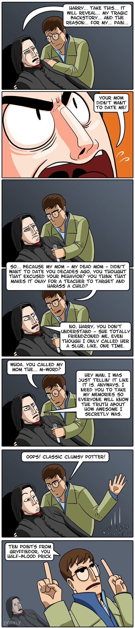 Harry Potter Learns Snape's Not So Tragic Backstory