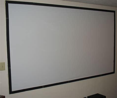 cheap diy  projector screen