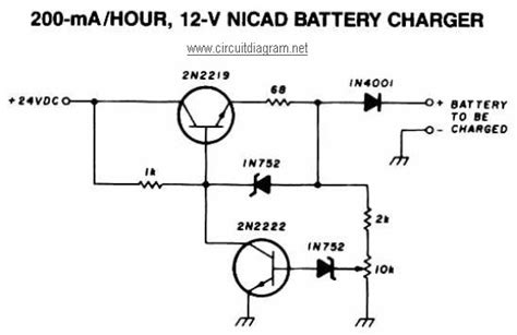 Hour Nicad Battery Charger Circuit Scheme