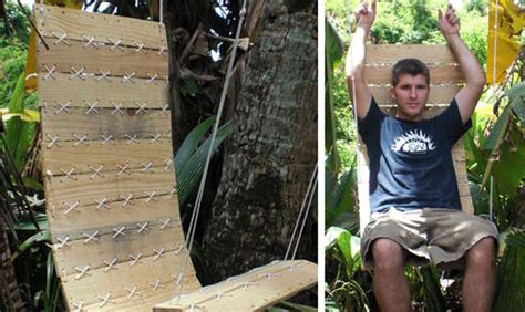 turn  shipping pallet   hanging outdoor chair