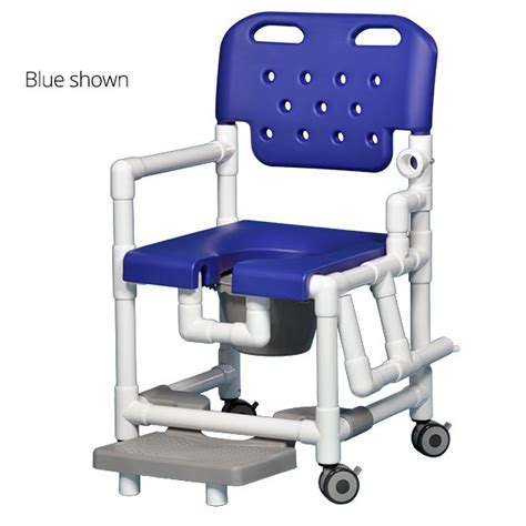 ipu elite shower commode chair with footrest and drop arm