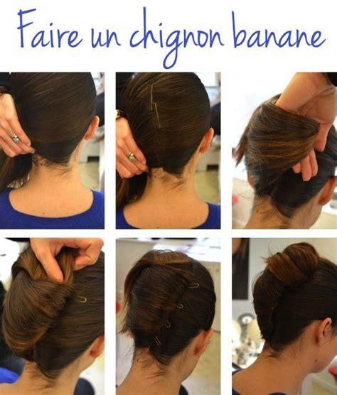 comment faire un chignon tutoriel coiffure chignon banane coiffure simple